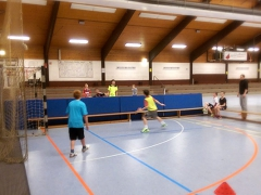 T-Ball mit Torhüter und Mattenwand